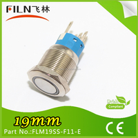 19mm Stainless Steel momentary Ring LED push button switch