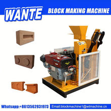 low investment WT1-25 clay brick block making machine price