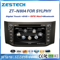 ZESTECH car dvd gps for Nissan sylphy car accessories maiker with GPS/BT/RADIO/RDS/SWC