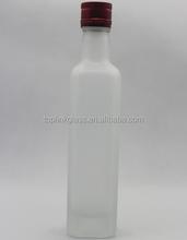 250ml-750ml glass seasoning jar, cruet glass, Olive oil beverage glass bottle manufacturer