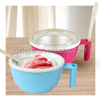 Manual pan ice cream maker