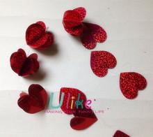 laser foil 3D heart garland metal hanging heart decoration 3 hanging heart decorations