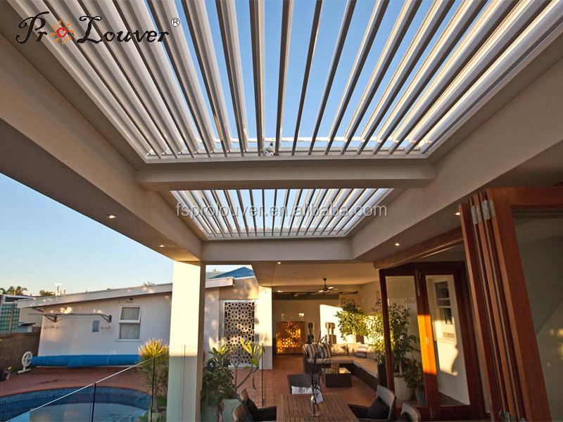 Aluminium pergola d 39 ouverture tanche toit soleil volet for Ouverture toit maison