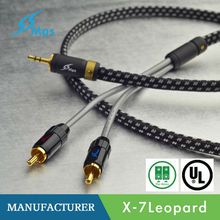 MPS X-7Leopard/ OCC 3.5mm to 2 RCA interconnect cable