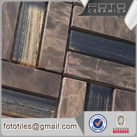 High quality papel de parede stone round mosaic tile