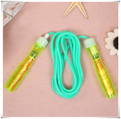 New Transparent Handle Signature Jump Rope Skipping PVC Jump Rope Children OEM Wholesale