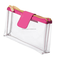 Clear PVC Cosmetic Bag/ Makeup Bag With Compartments