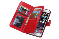 Cheap goods from china Crazy horse Leather Wallet Case book style phone cover for iphone 6s leather wallet case fast shipping