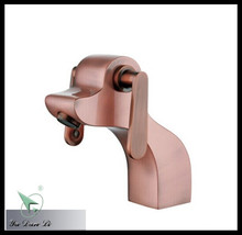 2014 new design brushed red copper animal shape faucet animal face basin faucet