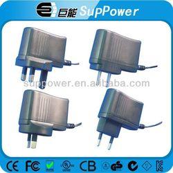 PLUG IN 8w 12w 15w universal ac dc power supply UK/US/EU plug