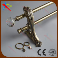 Bedroom bay window decoration scrystal finials curtain rod /pipe