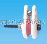 caged ceramic pulley,wire jump preventer.Ceramic wire guide