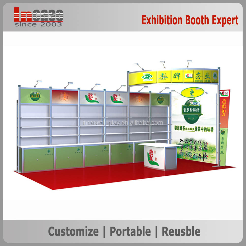 Exhibition Booth Materials : Portable aluminum materials trade show display exhibition