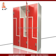 Gym&fitness Center Locker Hot sale Steel wardrobe casier School Changing Room Gym Lockers Metal Z Shape Gym Locker