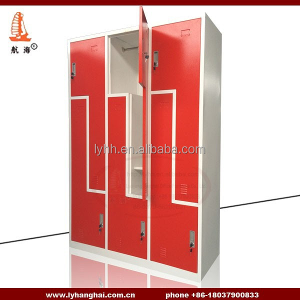 Gym&fitness Center Locker Steel Metal Z Shape Gym Locker For School Changing Room