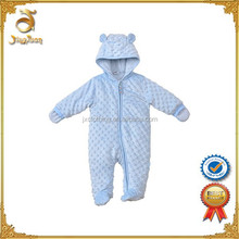Organic Cotton Baby Romper Set With Hood,Newborn Baby clothing set