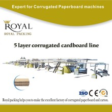 high speed corrugated cardboard production line for AC-FLUTE corrugated cardboard, box making machine