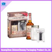 Custom Made Luxury Cardboard Paper wine gift box
