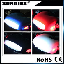 SUNBIKE battey powered powerful factory direct sale silicone rubber 7 led bike light