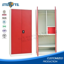Modern Furniture Easy Assemblied Metal Wardrobe Closet / Metal Wardrobe Cabinet