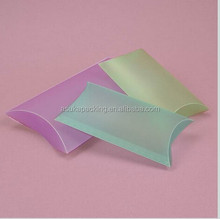 2015 Newest Colorful Frosted Plastic pillow box factory , We accept custom order only, no in stock