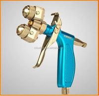 Ningbo air tools 2015 electronic tool set mini chrome double nozzle spray gun