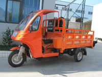 Semi-closed Tricycle 200cc Cargo tricycle adult bike load with CCC
