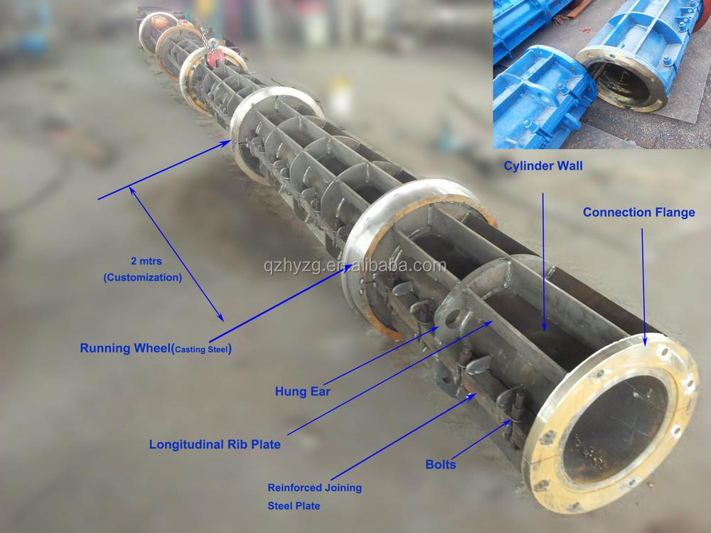 Conduit In Concrete Pole : Prestressed concrete electric spun pole making machine