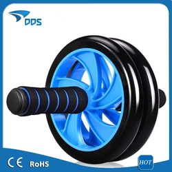 Dual Ab Wheel Roller With ab Mat Fitness Exerciser Abdomonal Abs Wheels