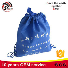 customized logo competitive price high quality PP laminated non woven drawstring bag with rope