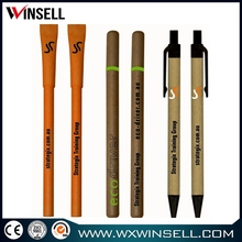 Latest lowest price white biodegradable plastic ball pens