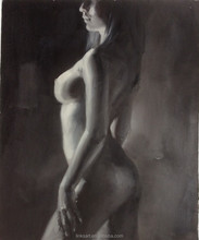 Naked Girl Nude Body Hand Painted Oil Painting on Canvas Wall Art Decoration