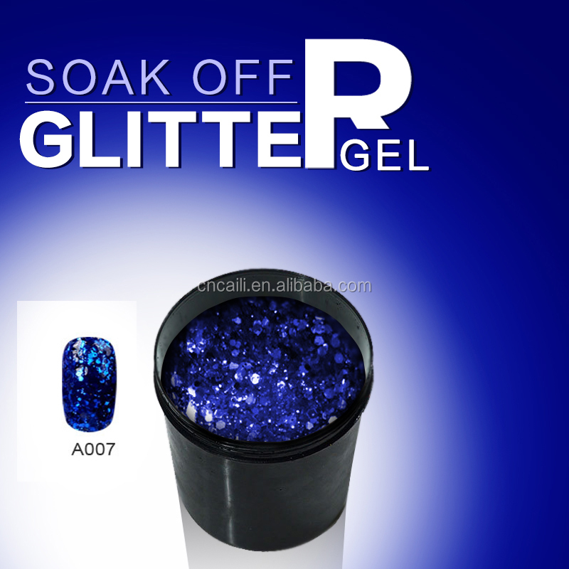 Direct Wholesale OEM Nail Gel Glitter Gel Color UV Nail Gel Polish Raw