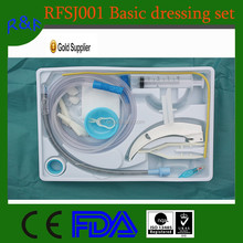 Cheap hospital disposable surgical basic dressing set