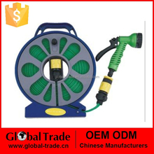50ft Lay Flat Garden Watering Hose With 7 Functions Spray Nozzle Garden Hose 550004
