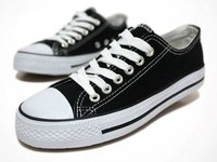 Classic Vulcanized Black Casual Shoes /Stylish Canvas Shoes For Men Or Woman / Low Cut Fashion shoes