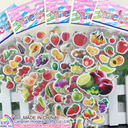 2015 POPULAR Fruits STICKERS, 3D PUFFY STICKERS POP-UP STICKERS,PUFFY STICKER