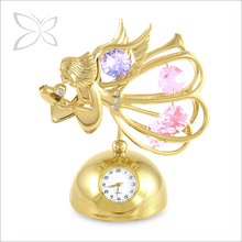 Deluxe Gold Plated Metal Decoration Clock For Gift