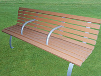 WPC Wood Plastic Composite Garden Arch With Bench