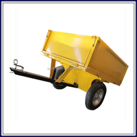 Easy to transport Garden wagon utility steel tipping trailer