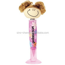 top selling chaep swanky cute sunny doll ball pen