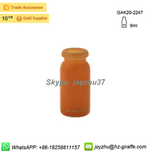 Hot sale 9ml clear medical glass vial with flip off cap