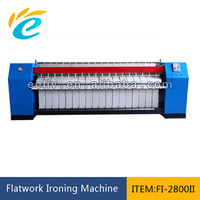 Industrial ironing width 2800mm flatwork 2 rollers ironer used for sale