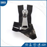 15#Shiny silver Exella zipper close end autolock in L style teeth