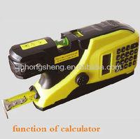 Laser spirit level with calculator