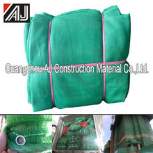 Green hdpe nylon construction scaffolding safety net