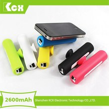 Factory 2600 smart mobile power bank battery operated usb mobile travel charger for camping
