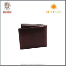 Brown Color Trendy Classical Men Genuine Leather Wallet