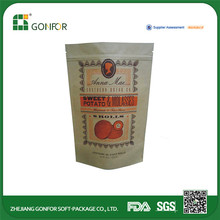 Factory Directly Provide Fashion Designer Zipper Bag Food Packaging Companies In China
