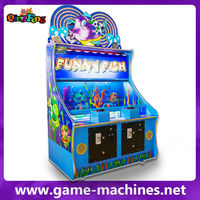 America popular game /coin press funny fish /coin indoor game machine